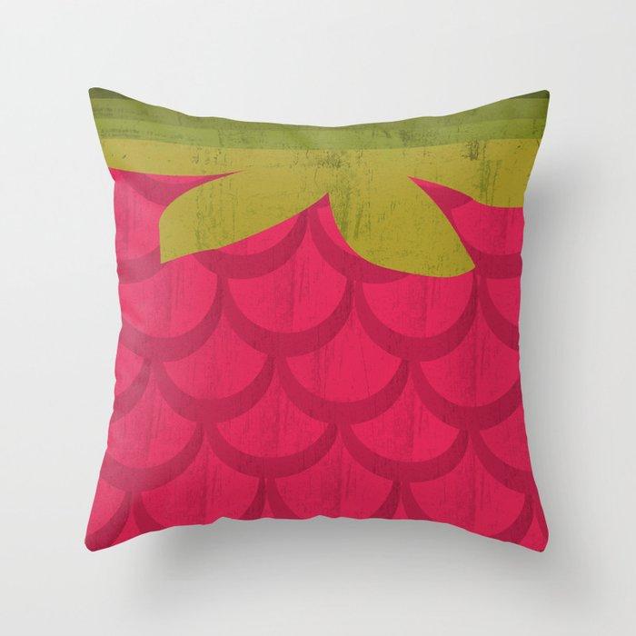Throw Pillows Rules : Raspberry Throw Pillow by Kakel Society6
