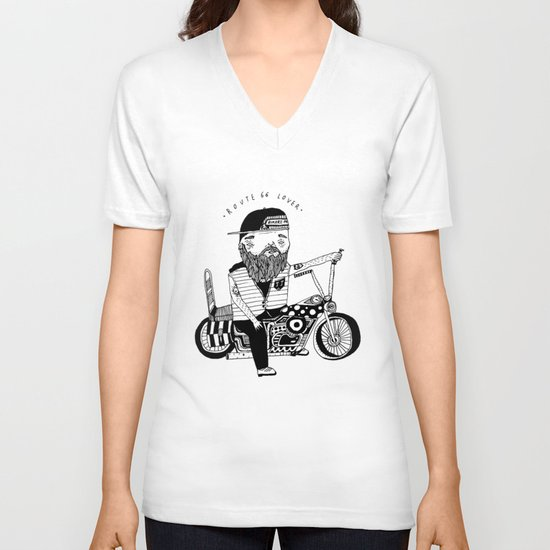 Route 66 Lover V-neck T-shirt