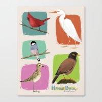Hawaii Birds Collection … Canvas Print