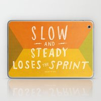 slow and steady loses the sprint Laptop & iPad Skin