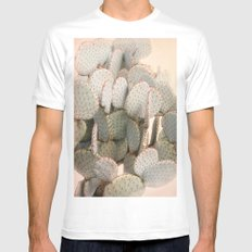 Cactus Blush 2 SMALL White Mens Fitted Tee