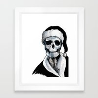 Blackest Ever Black Xmas Framed Art Print