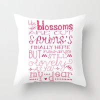 The Blossoms Are Out Throw Pillow