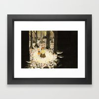 Sweet Porridge: Forest Scene Framed Art Print