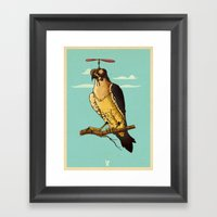 Making Fun Of The Falcon Framed Art Print