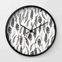 Feather Pattern Wall Clock