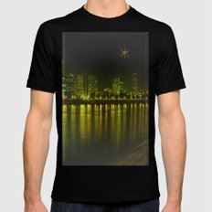 emerald city of roses Mens Fitted Tee Black SMALL