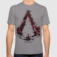 Assassin's Creed Saga Mens Fitted Tee Tri-Grey SMALL
