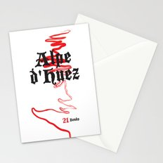 Famous Climbs: Alpe d'Huez 2, Old World Stationery Cards