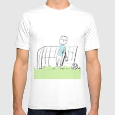 football White Mens Fitted Tee SMALL