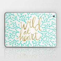 Wild at Heart – Turquoise & Gold Laptop & iPad Skin