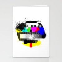 TV Trash Stationery Cards