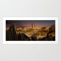Art Print featuring Red City by Viggart