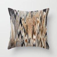 Wild zigzag print Throw Pillow