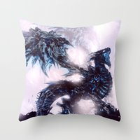 Coldfire Dragon Throw Pillow