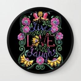Wall Clock - Live Love Laugh 2 - Shelley Ylst Art