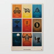 Spielberg Movies Canvas Print