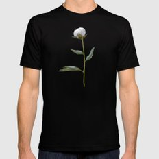 Peonies Winter Mist Mens Fitted Tee Black SMALL