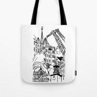 Three City Silhouettes Tote Bag