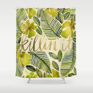Shower Curtain featuring Killin' It – Tropical … by Cat Coquillette