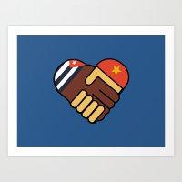 Hands Of Friendship Art Print