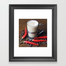 MILK COFFEE and CHILLI Framed Art Print