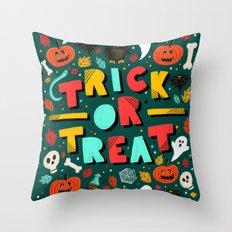 Trick or Treat Halloween Throw Pillow