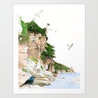 Ligurian Coastline Art Print