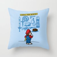 Weapon Of Choice Throw Pillow
