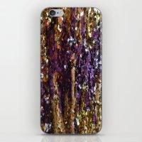 PURPLE AND GOLD iPhone & iPod Skin