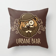 Urbane Bear Throw Pillow