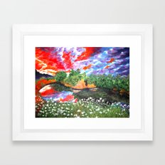Rainbow Skies Framed Art Print