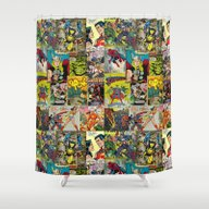 COMIC Shower Curtain