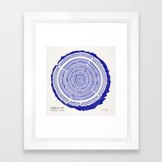 Douglas Fir – Navy Framed Art Print