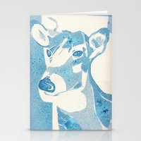 Deerest Blue Stationery Cards