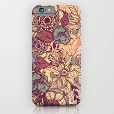 Vintage yellow flowers Slim Case iPhone 6s