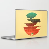 minimal Laptop & iPad Skins featuring Go West by Picomodi