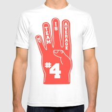 Foam Finger White SMALL Mens Fitted Tee