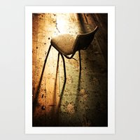Chair in Light Art Print