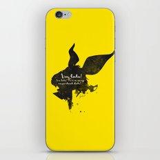I'm late! – White Rabbit Silhouette Quote iPhone & iPod Skin