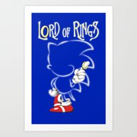 lord of the rings Art Prints featuring Lord of Rings by JohnLucke