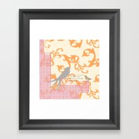 Upon the Nearest Breeze - Peach Framed Art Print