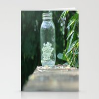 Queen Anne's Lace/Jar W/… Stationery Cards