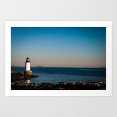 Salem Lighthouse Art Print
