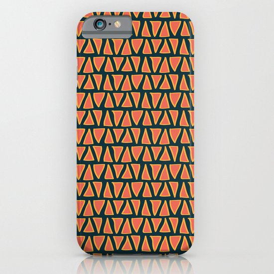Desert Triangles - Geometric Orange and Blue Pattern iPhone & iPod Case