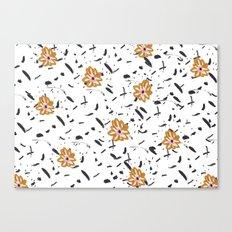 Daisy. Illustration, flowers, print, design, pattern, floral, fashion, drawing, Canvas Print