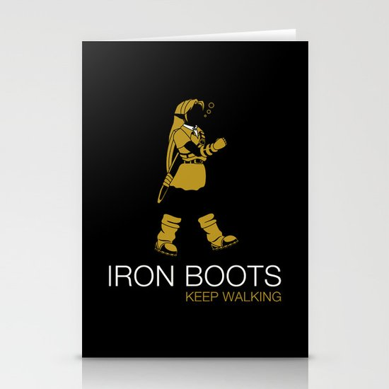Iron Boots Stationery Card