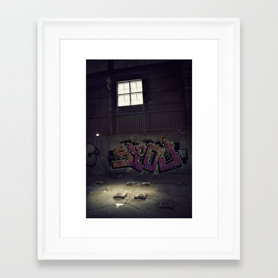 Abandoned Warehouse Framed Art Print