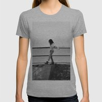 Lost Womens Fitted Tee Athletic Grey SMALL