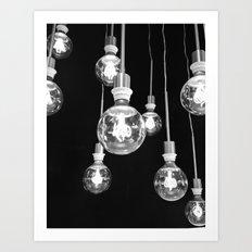 Llight bulbs Art Print